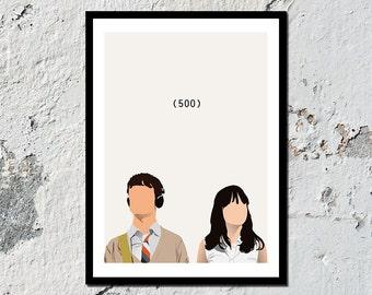 500 Days of Summer high quality film print (A5, A4, A3)