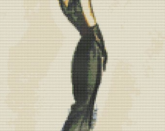 Woman Cross Stitch Chart, Lady in Black Cross Stitch Pattern PDF, Art Cross Stitch, Embroidery Chart