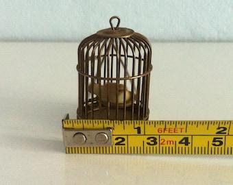 Vintage Metal Bird birdcage Dollhouse Miniatures Accessoire