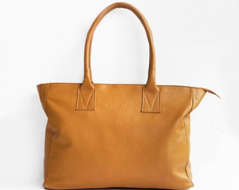 Leather Shopper in Caramel /Leather Tote / Shoulder Bag / Brown Leather Bag / Leather Bag / Leather Handbag / Morelle Bag