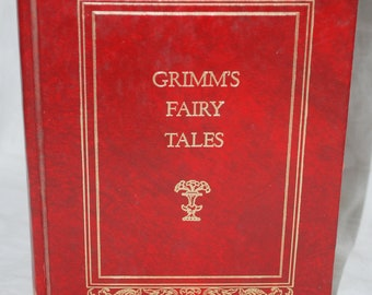Grimms Fairy Tales, 1973 Crown Publishers red hardback edition