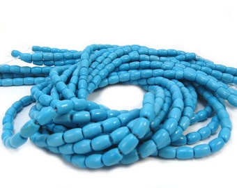 Magnesite Beads, 6X5mm Barrel Beads, 15 inch Strand, Designer Quality, Jewelry Making Supplies, Item 506gsm