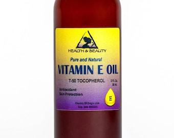 2 oz TOCOPHEROL T-50 VITAMIN E OIL Anti Aging Natural Premium Pure