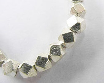 20 of Karen Hill Tribe Silver Faceted Beads 3.5 mm. :ka2463