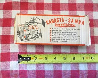 Canasta - Samba  Card Tray, Kard Kitty, Vintage w/ free ship