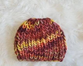 Macon Hat - Super chunky beanie hat, adult teen chunky hat, bulky hat