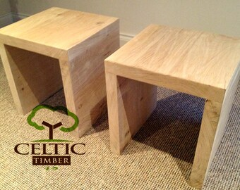 Handmade Bedside Table / Coffee Table - Solid Oak