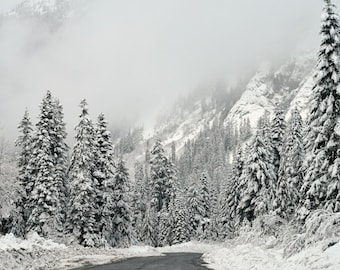Reproduction d'hiver au pays des merveilles - photographie, neige, montagnes, désert, forêt, Fine Art, Art mural, impression papier jet d'encre, RDelean Designs