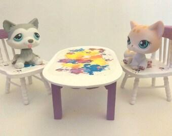 Littlest Pet Shop LPS Leopard 224 Husky 7 Green Eyes Handmade Parts MUST SEE