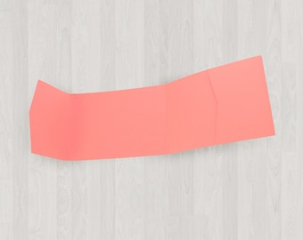 10 Panorama Pocket Enclosures - Coral & Peach - DIY Invitations - Invitation Enclosures for Weddings and Other Events