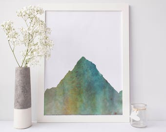 Mountain Print, Nature Decor Wall Art, Mountain Picture Wall Decor, Digital Download, Printable Artwork, Woodland Wall Art, Forest Art Print