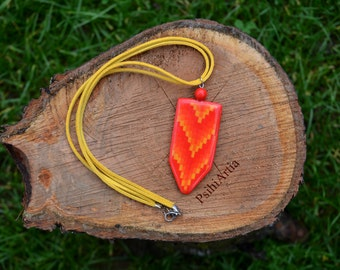 Summer necklace Polymer clay jewelry Polymer clay creations Polymer clay necklace Handmade necklace Boho necklace Orange necklace Boho jewel