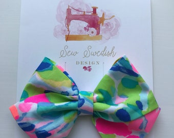Catch the wave Bow // Baby Bow // Baby Headband // Girl Bow // Lilly Pulitzer Bow