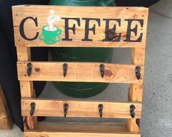 Wood coffee cup holder