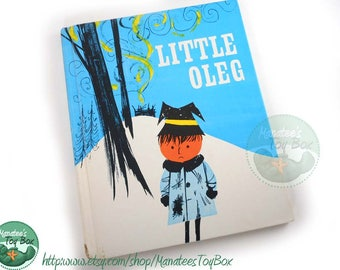 Vintage Little Oleg Hardcover Book 60s Illustrations 1972 Printing