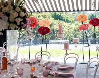 PEONY paper flower freestanding giant/paper flower wall/Wedding flower/birthday party /home styling/wedding centerpiece/window display