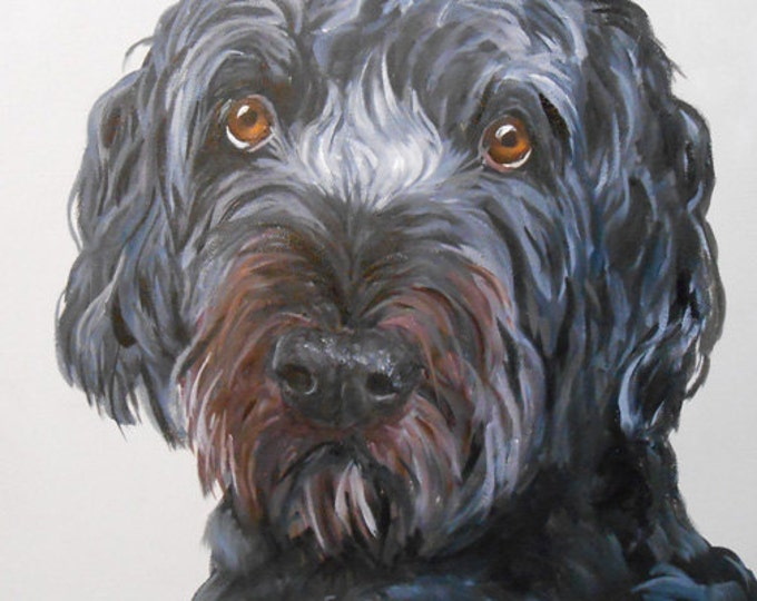 Genuine Hand Painted Dog Art Painting, Christmas 2018 Commissions now being taken, Artist Robin Zebley