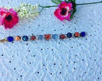 Beautiful Dichroic Glass Bracelet