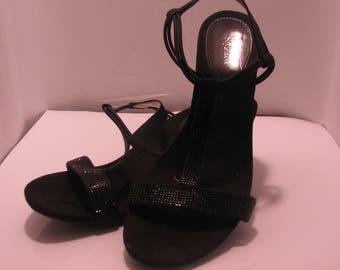 Slingback black fancy wedge.  Size 8M by Style & Co.