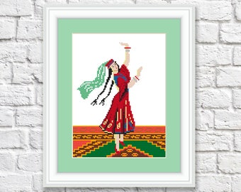 Vintage Cross Stitch Pattern Dancer Download