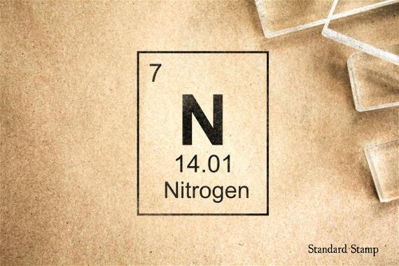 Sello de goma nitrgeno tabla peridica 2 x 2 pulgadas urtaz Choice Image