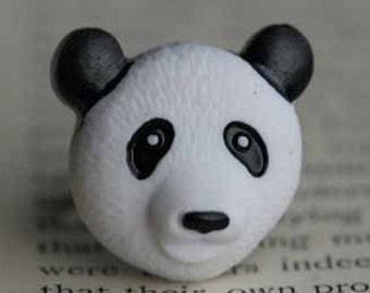 I Love Pandas Adjustable Ring