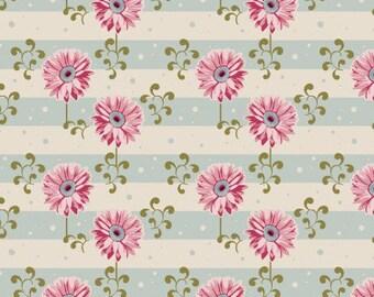 Fabric Tilda pink gerbera