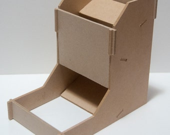 Portable MDF Dice Tower