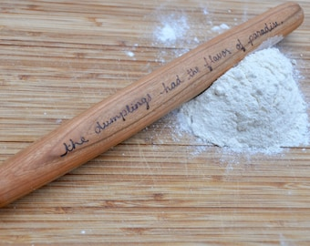Personalized rolling pin engraved rolling pin personalized gift wooden rolling pin custom rolling pin embossed rolling pin asian rolling pin