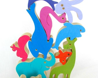 2 Wooden puzzles in a Special price , Wooden animals , Eco-friendly toy , Toy Decor, Gift for toddler , Learning toy for toddlers