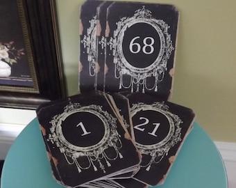 Chalkboard Table Numbers Chalkboard Wedding Rustic Chalkboard Table Numbers Bridal shower chalkboard cards chalkboard numbers