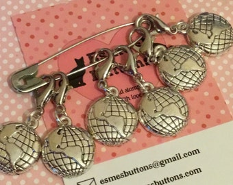 Travel Stitch markers, travel gift, gift for crocheter, traveller crocheter, crochet gift, UK seller, for her, for him,