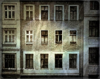 Berlin Window Photography,East Berlin, Germany, house , apartment , wohnung, Wall decor, wall Art, Europe
