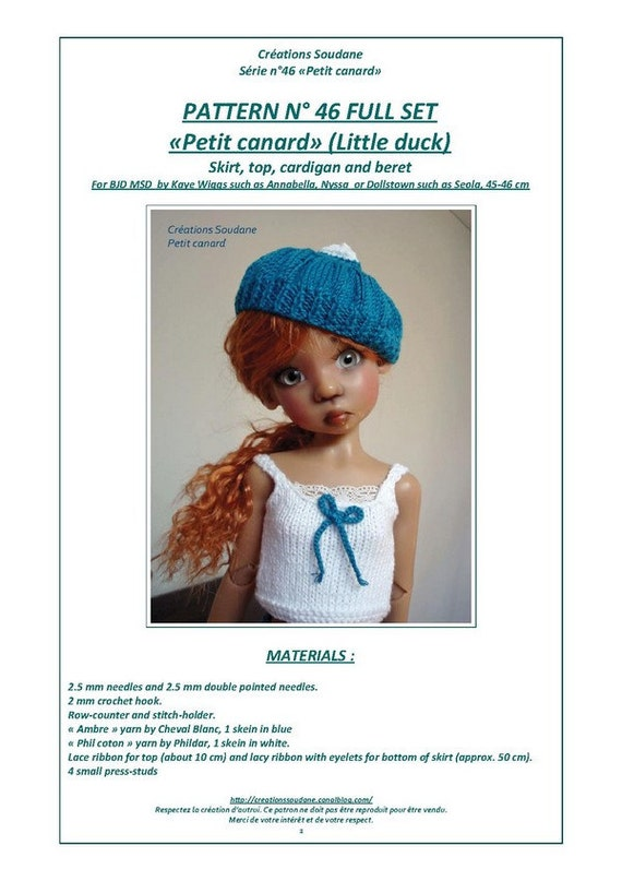 0a68b9c25 Complete collection pack of 9 PDF Knitting Patterns BJD KAYEWIGGS 18 ...