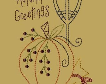 Autumn Greetings-Version 2--5x7-INSTANT DOWNLOAD