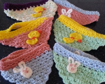 Easter Hand Crocheted Dog Bandanna