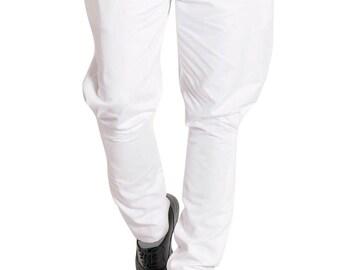 White Jodhpurs Pant Mens Polo Pant Cotton Baggy Breeches