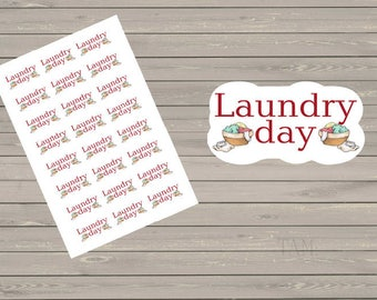 Laundry Planner Stickers Laundry Day Stickers Wash Stickers Clothes Stickers Fits Erin Condren Stickers Reminder Sticker Functional Stickers