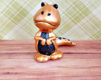 Gold and Black Tyrannosaurus Figurine, T-Rex Figurine, Dinosaur Nursery Decor, Baby Shower Gift, Gold T-Rex, Black T-Rex, Baby Gift