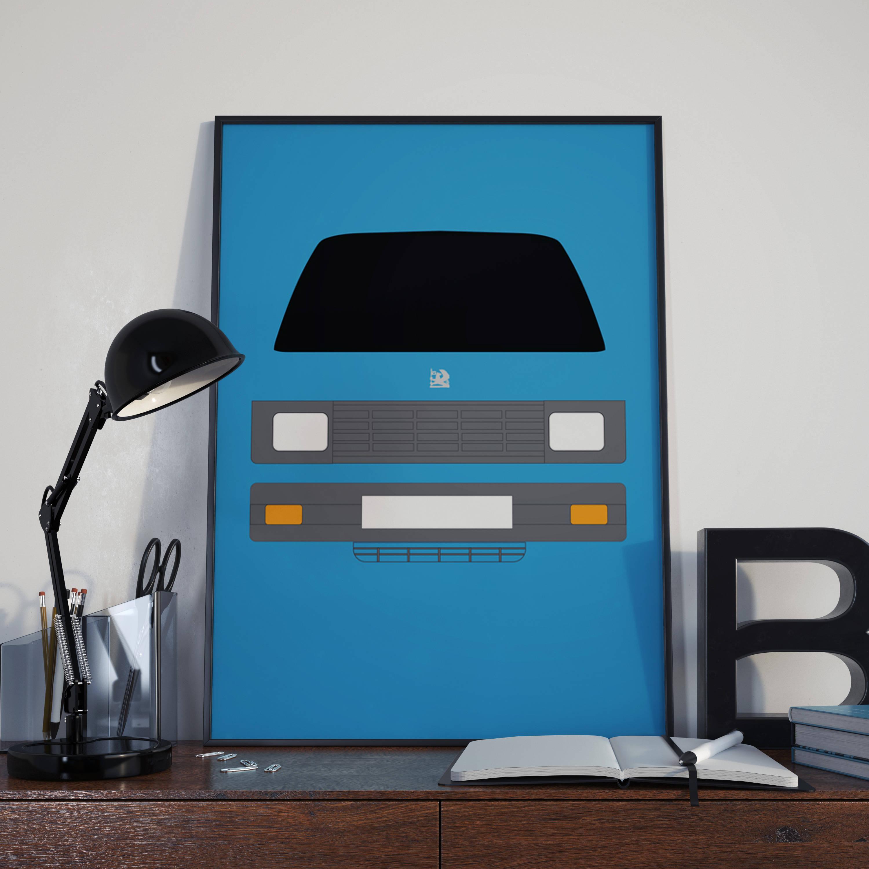 Vauxhallbedford Rascal Van Customisable Print And Greeting Card