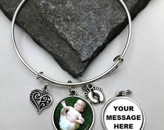 Two-Sided New Baby Bracelet double sided, Two-sided Sonogram Bracelet, Ultrasound Bracelet, photo bracelet