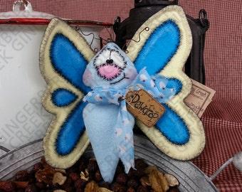 Dewdrop the Butterfly Pattern #147 - Primitive Doll/Tuck/Ornie Pattern