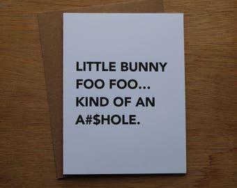 Easter, Little Bunny Foo Foo card.