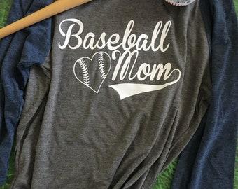 Baseball Mom Shirt/Womens Baseball Tee/Mom Baseball Shirt/Baseball Moms/Womens Baseball Tee/Baseball Mom Tee/Mom Sayings Shirt