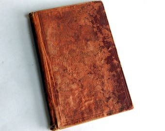 Antique 1868 Early Edition of SNOW-BOUND by John Greenleaf Whittier - Very Shabby Red Cloth-Cover Hardback - Ticknor and Fields, Boston