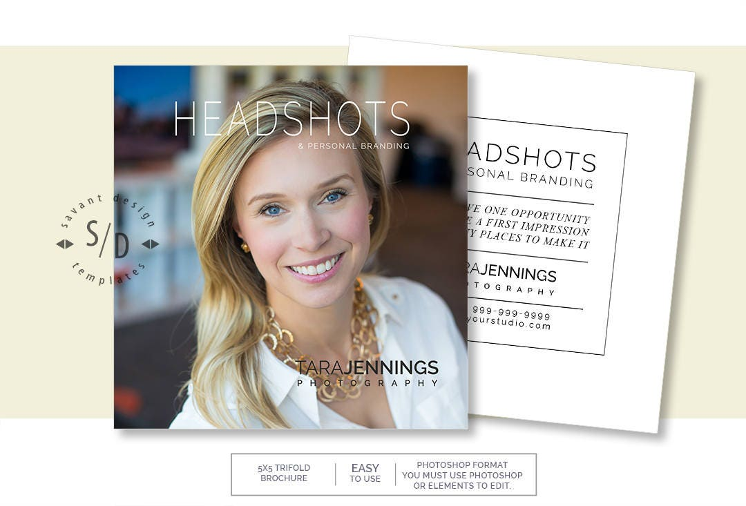 headshot border template