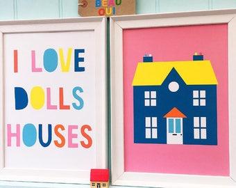 Dolls House Set of 2