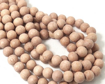 Unfinished Rosewood, 10mm, Round, Smooth, Natural Wood Beads, Full strand, 43pcs - ID 1645