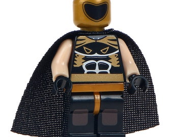 Lucha Libre Mexican Wrestler Fighter Tinieblas Custom Printed Minifigure Compatible with LEGO
