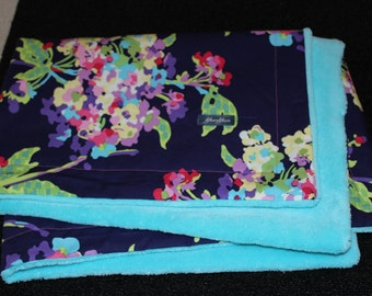 Water Bouquet Small Minky Blanket